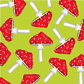 Background from fly agaric