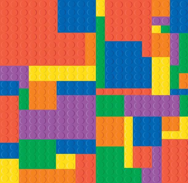 stockillustraties, clipart, cartoons en iconen met achtergrond van lego. vector - lego