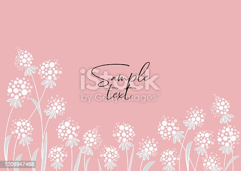 Vector illustration colorful background from silhouettes of flowers. Floral background