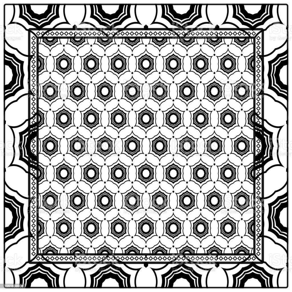 Ilustración de Fondo Patrón Geométrico Con El Marco De Encaje ...