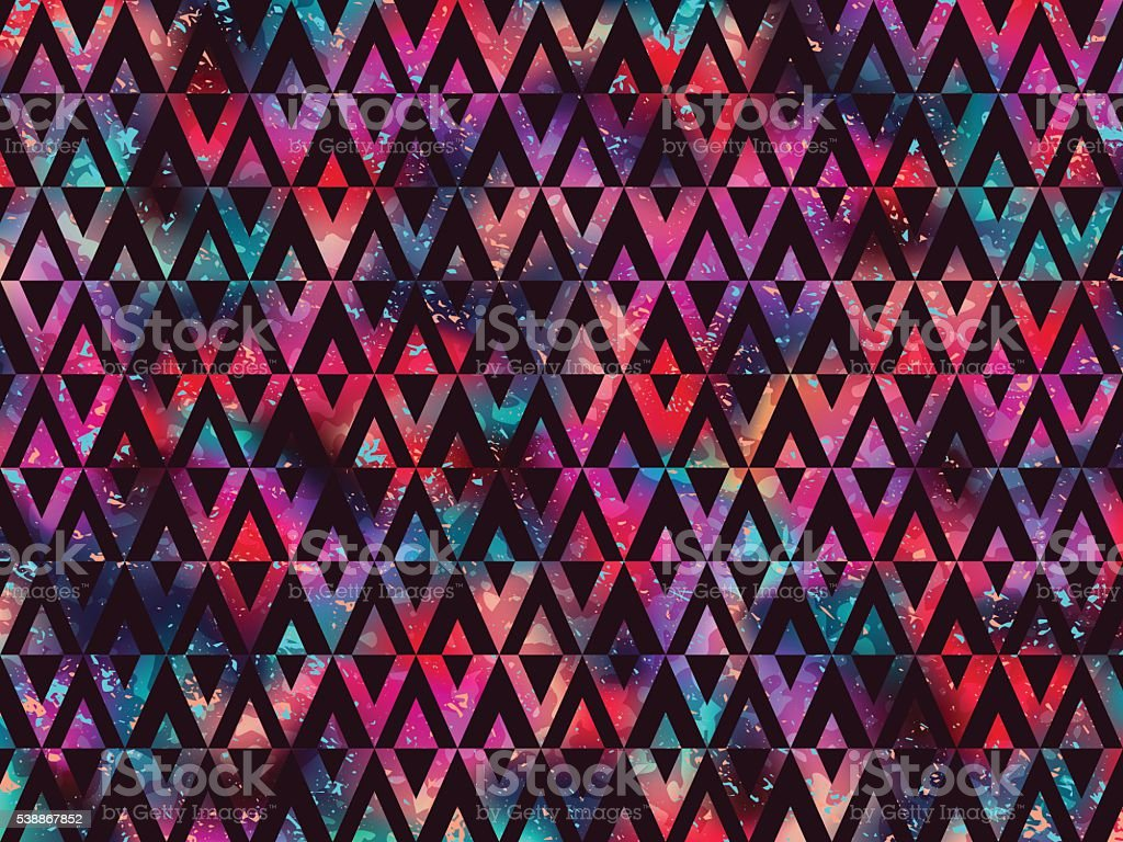 Background geometric triangle abstract night colors vector art illustration