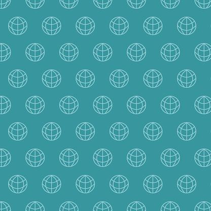 Background Globe Network Seamless Pattern