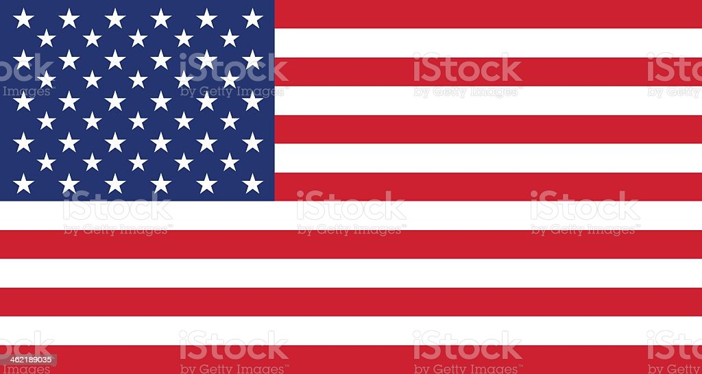 Background graphic of the American flag vector art illustration