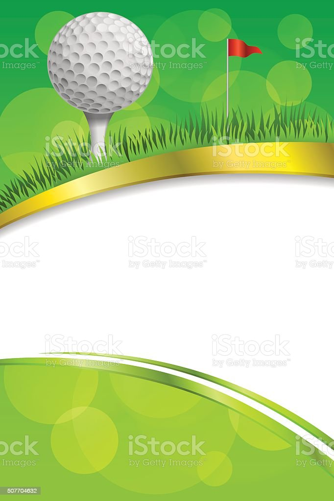 Ilustración de Fondo Verde Blanco Bola De Deporte De Golf Club Marco ...