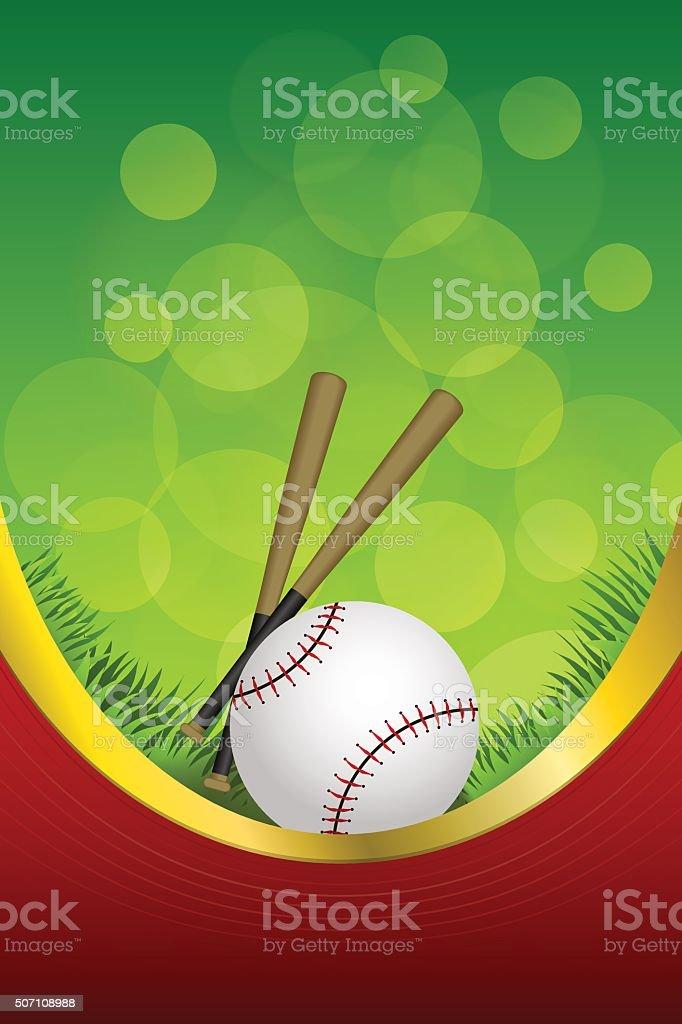 40cb9668cff1 Background green red sport white baseball ball club frame - Illustration .