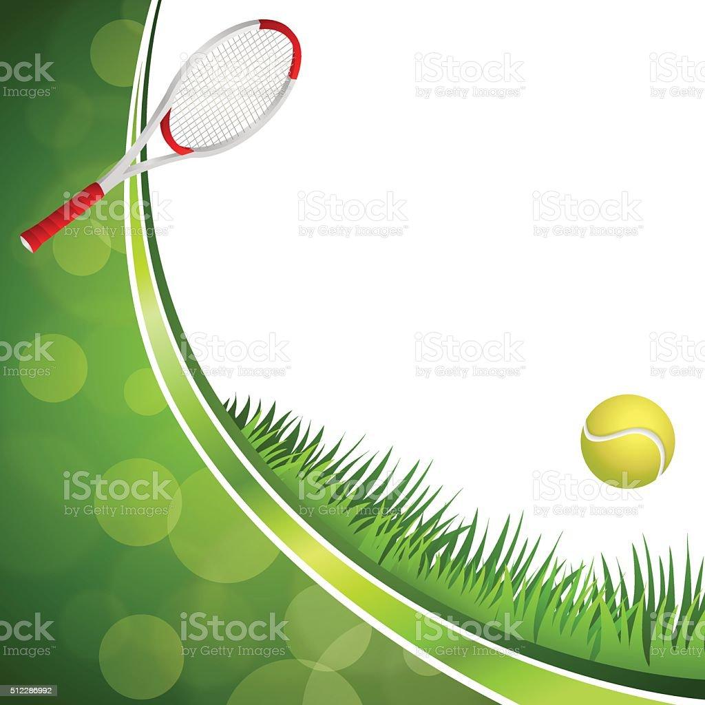 Ilustracin De Fondo Verde Tenis Amarillo Bola Deporte Vector Tennis Crculo Marco Cinta