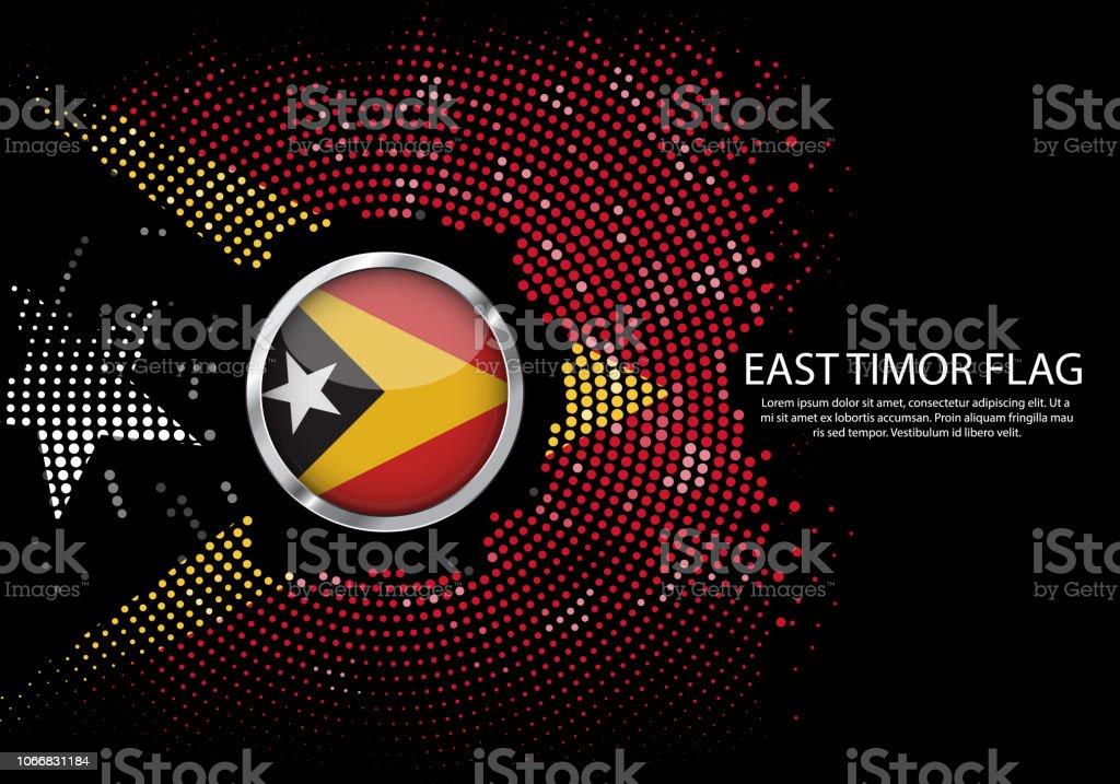 ハーフトーン グラデーション テンプレートまたは東ティモール国旗の ...