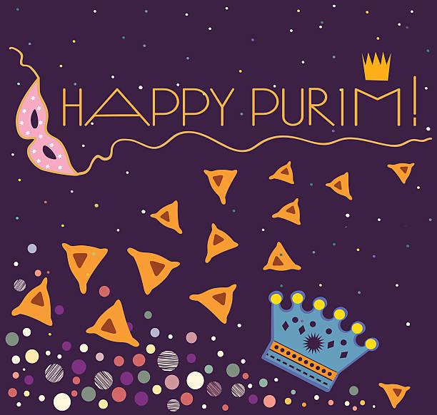 background  happy purim - purim stock illustrations, clip art, cartoons, & icons