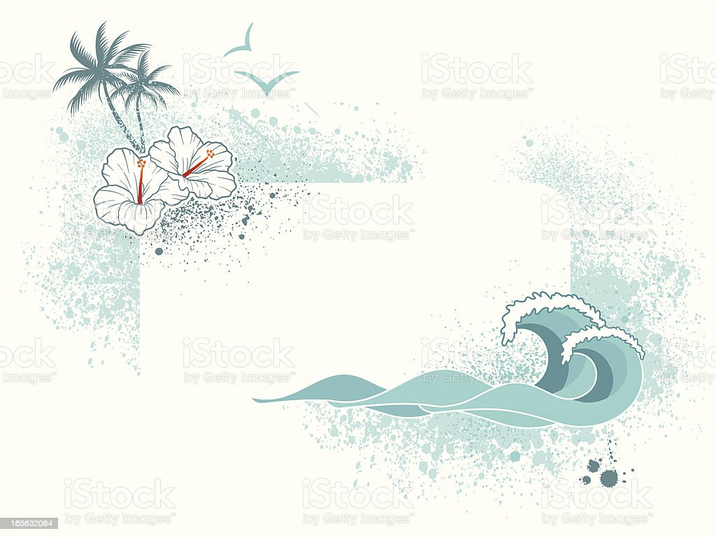 background hibiscus royalty-free stock vector art