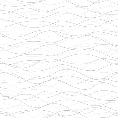 Background Horizontal Curved Lines Seamless Pattern