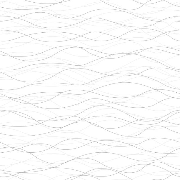Background Horizontal Curved Lines Seamless Pattern Vector of Background Horizontal Curved Lines Seamless Pattern squiggle stock illustrations