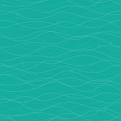 Vector of Background Horizontal Curved Lines with Beads Seamless Pattern