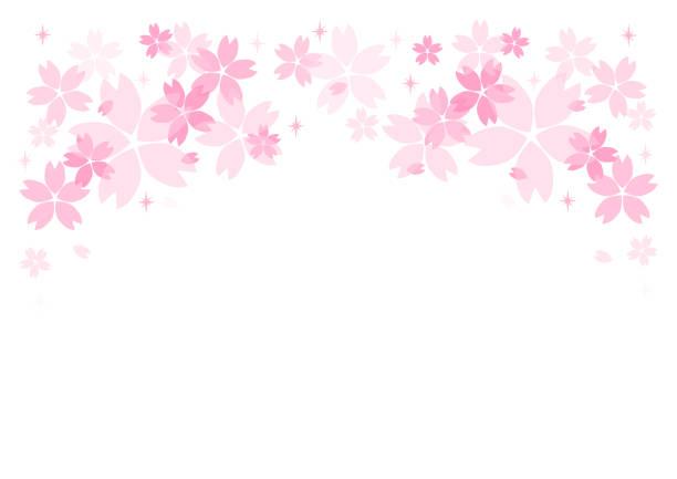 ilustrações de stock, clip art, desenhos animados e ícones de background illustration: cherry blossoms - cherry blossoms