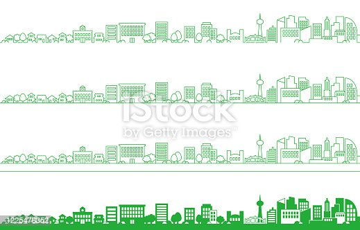 Background illustration of a simple cityscape