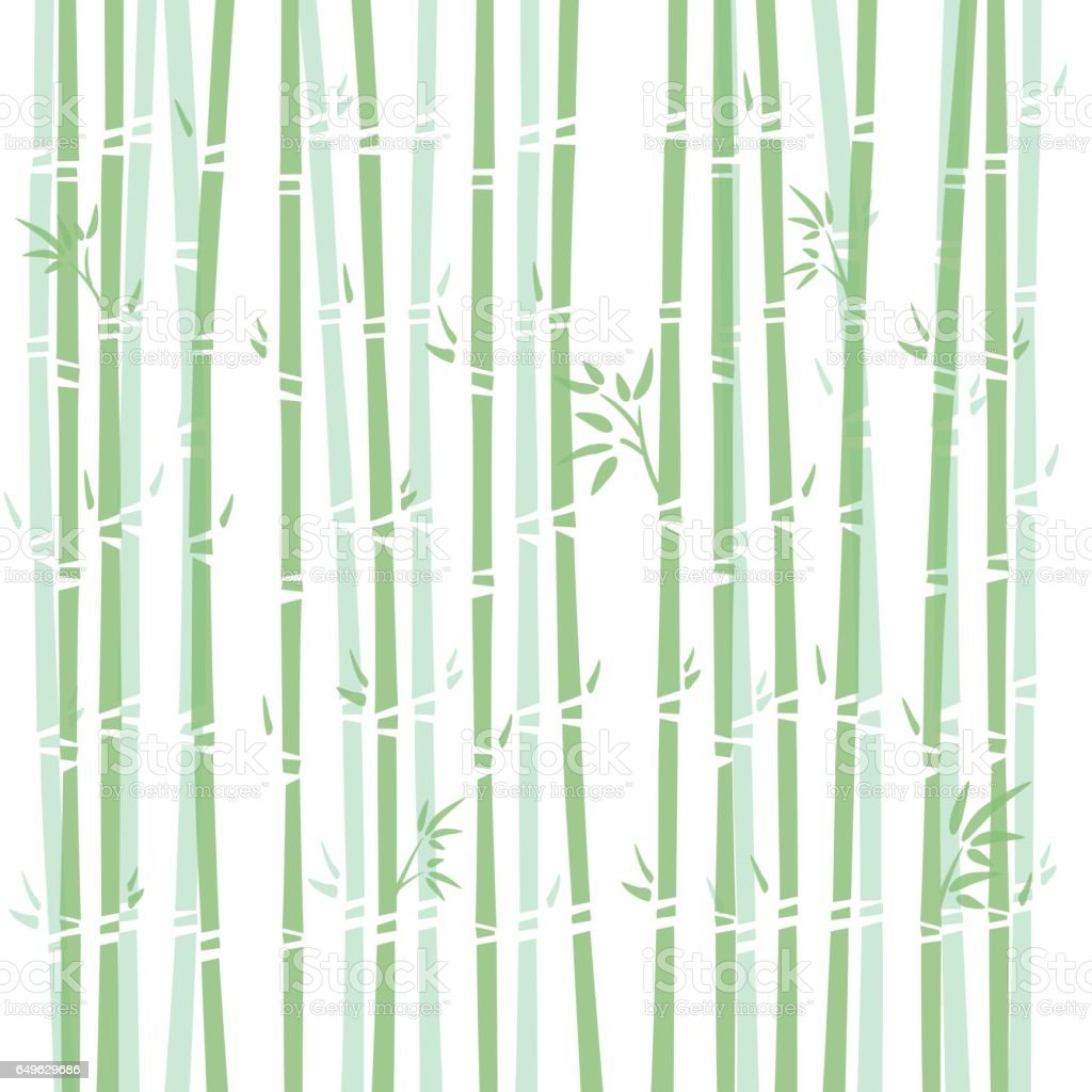 Background illustration of bamboo vector art illustration