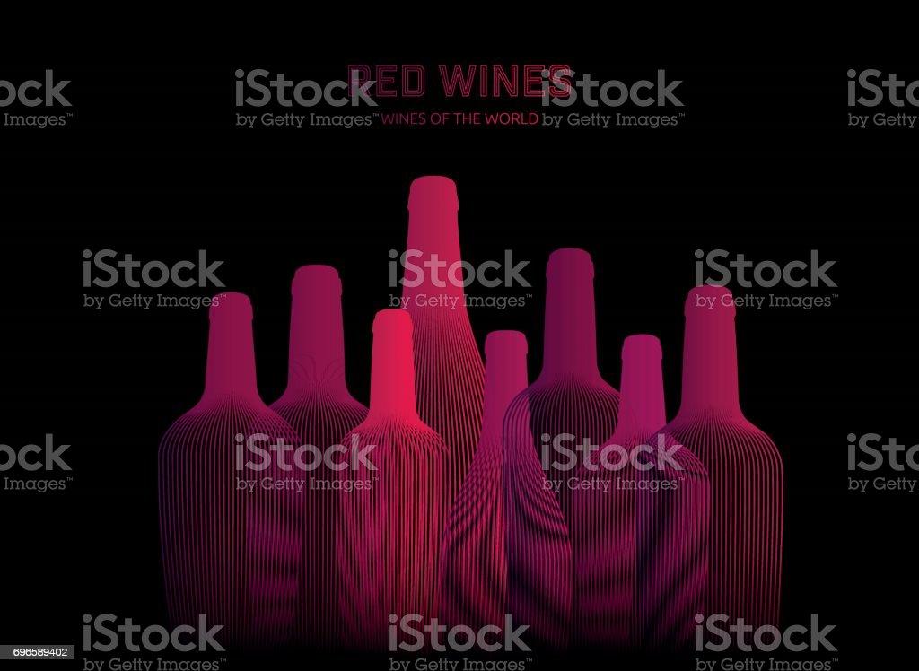 Background illustration of drink bottles.