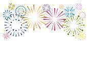 Background illustration of fireworks: frame