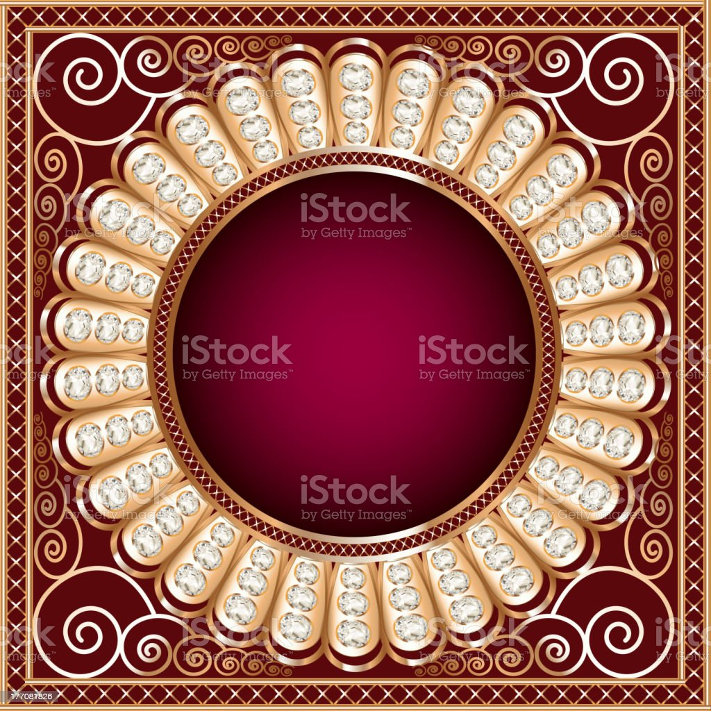 Background illustration with precious stones, royalty-free stock vector art