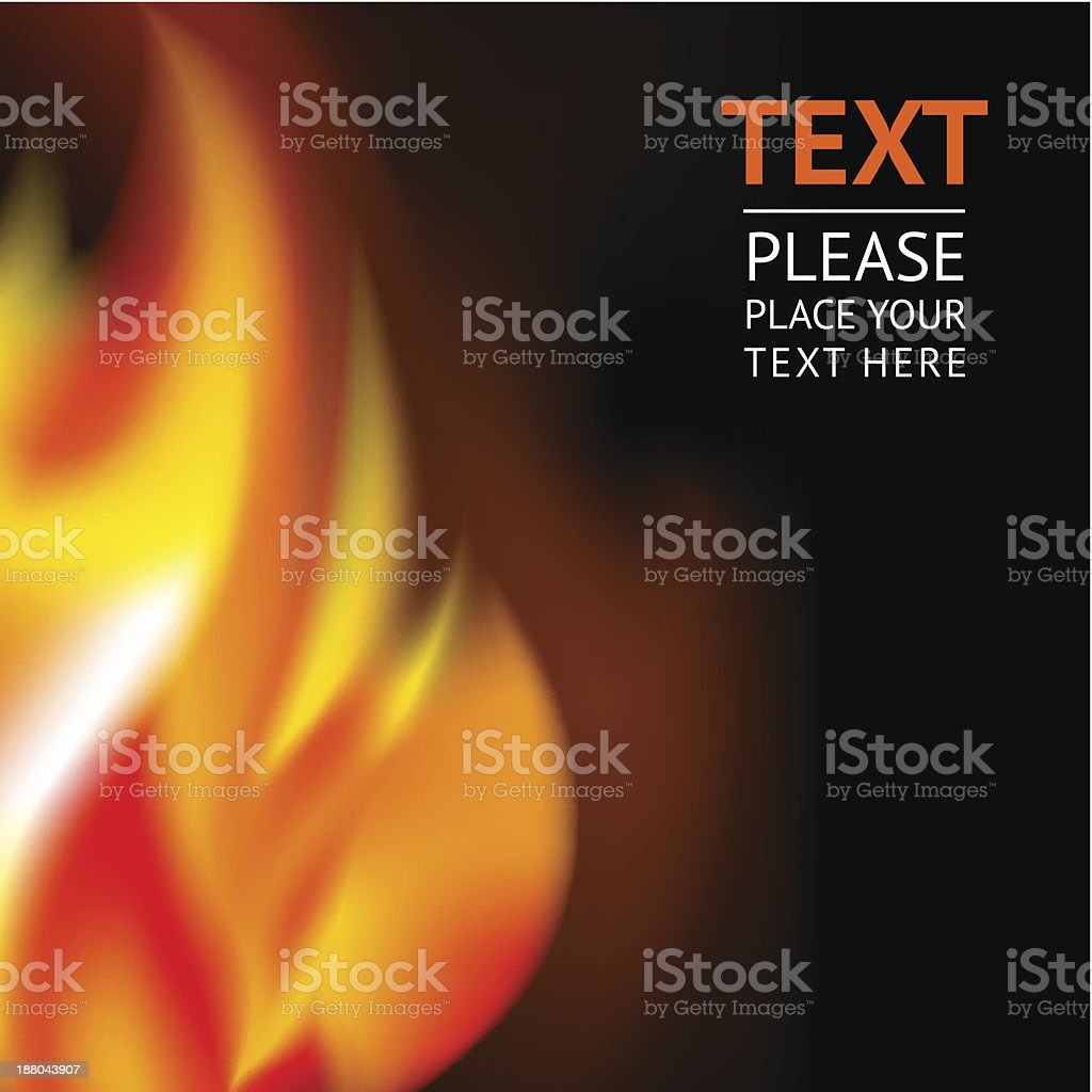 Background image of a large flame royalty-free stock vector art