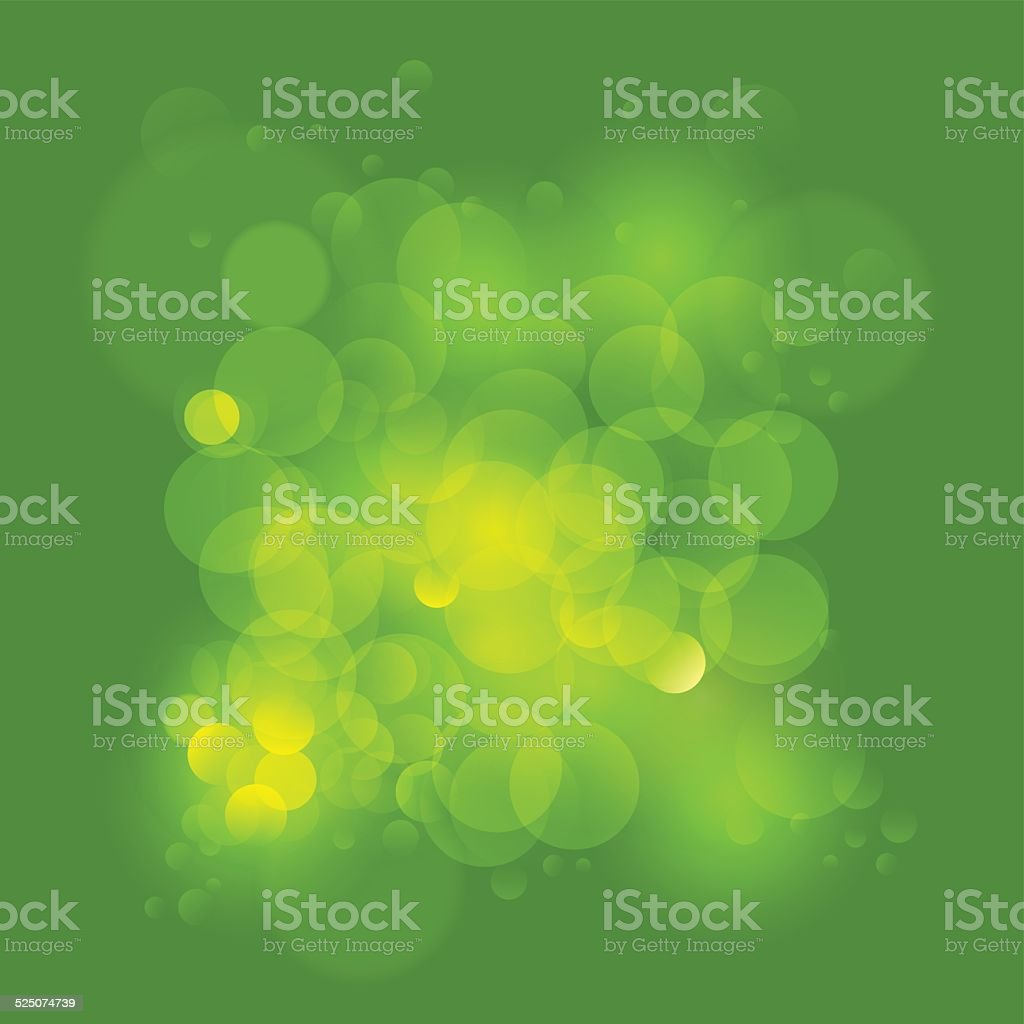 Background in green gradient color with bubbles vector art illustration