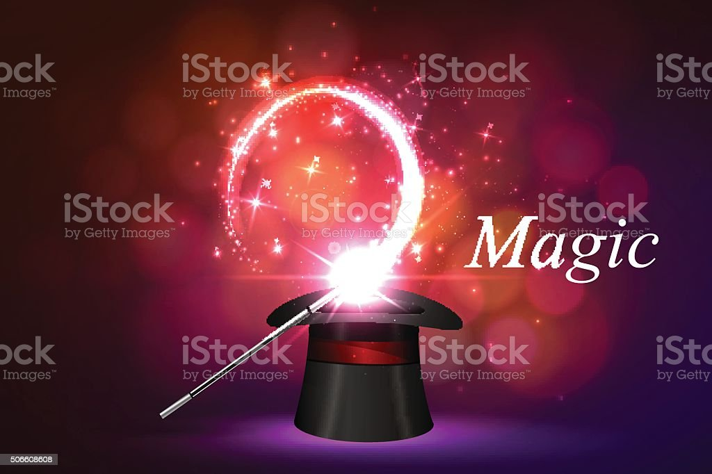 background magical glow vector art illustration