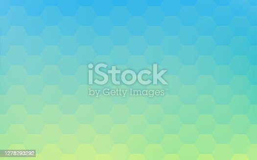 istock Background material: Geometric pattern of pale yellow-green and blue gradation 1278293292