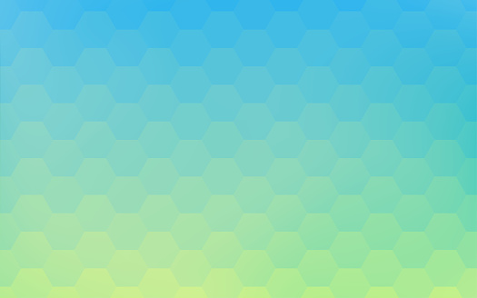 Background material: Geometric pattern of pale yellow-green and blue gradation