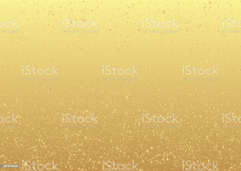 Background material of gold leaf. vector art illustration