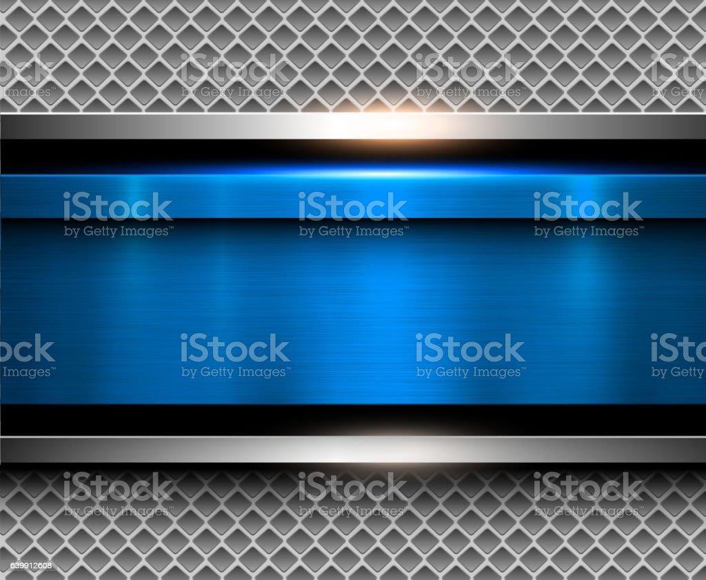 Sfondo Blu Metallizzato Illustrazione 639912608 Istock