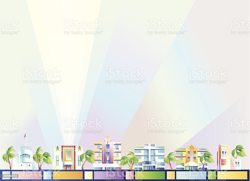 Background - Miami royalty-free background miami stock vector art & more images of 20th century style