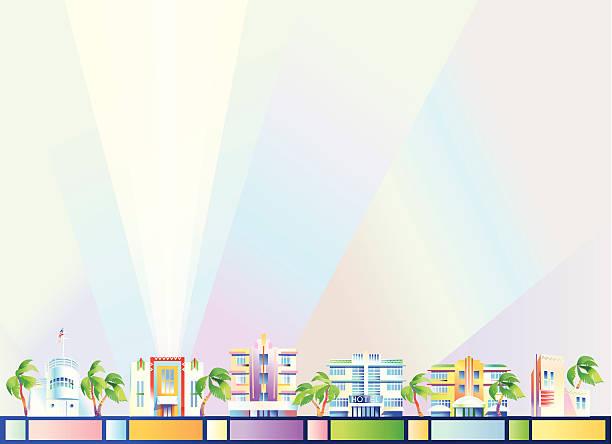 Background - Miami vector art illustration