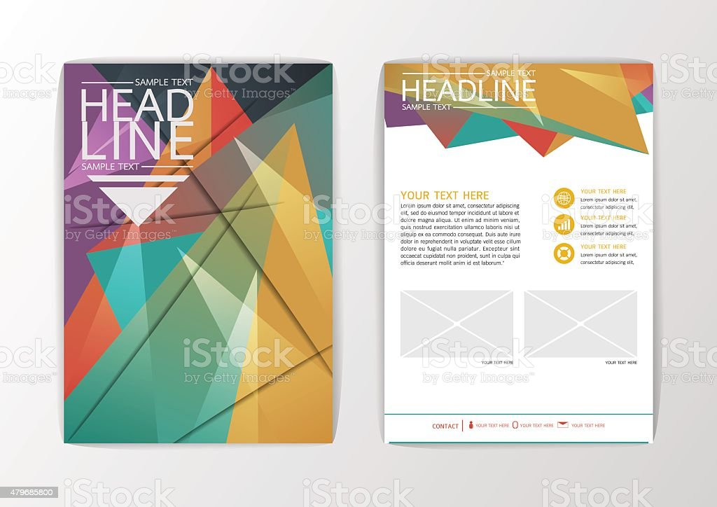 Background Modern Geometric Design Business Corporate Brochure