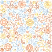 background of abstract flowers on white