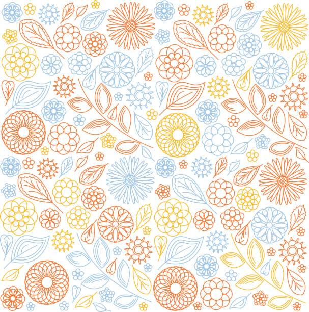 background of abstract flowers on white background of abstract flowers on white flower part stock illustrations