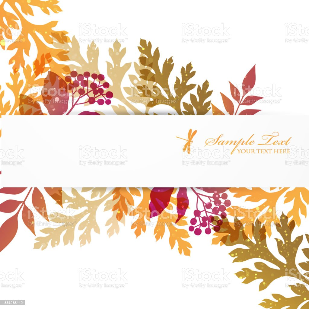 background of  autumn colors leaves vector art illustration