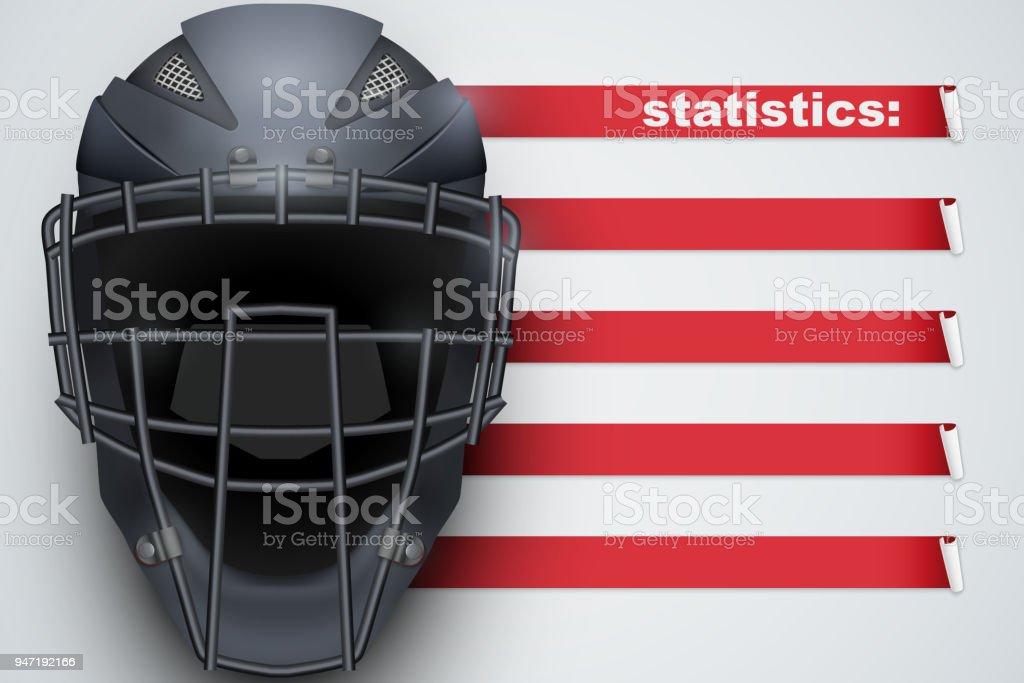 Background of Baseball Statistics vector art illustration