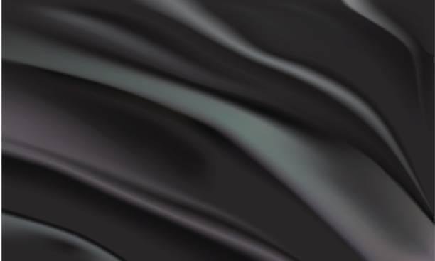 hintergrund der schwarzen stoff - plüschmuster stock-grafiken, -clipart, -cartoons und -symbole