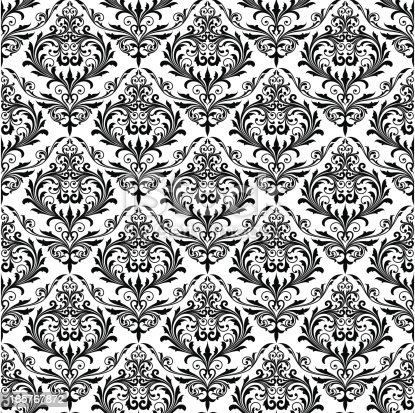 istock Background of black seamless patterns 165767872