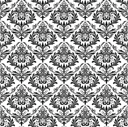 Background of black seamless patterns