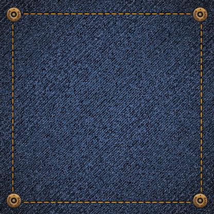 Background of blue denim fabric