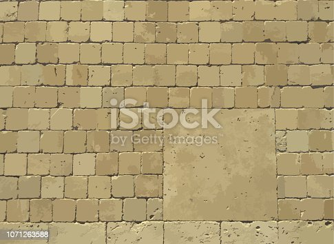 Background of brick wall or road texture. Vector illustration