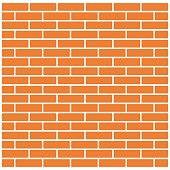 Background of brick wall. Vector illustration