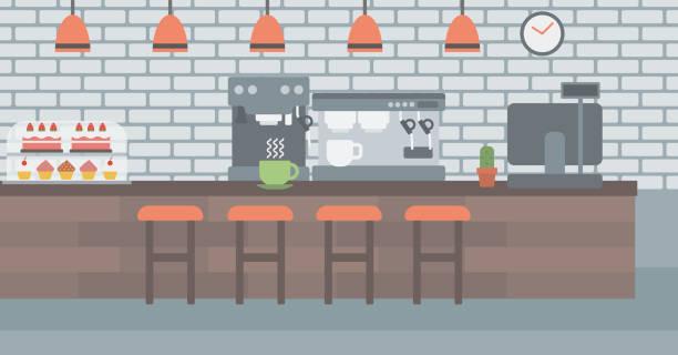 ilustrações de stock, clip art, desenhos animados e ícones de background of coffee house - coffe shop