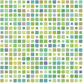 Background of colored green mosaic in vector
