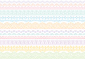 background with colorful lace trims. vector illustration.