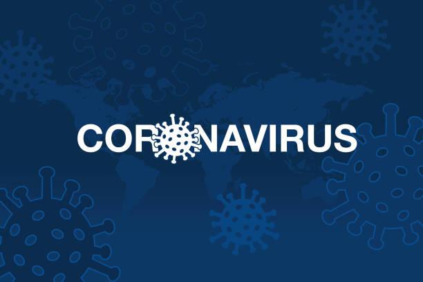 background of coronavirus with world map - covid-19 stock illustrations