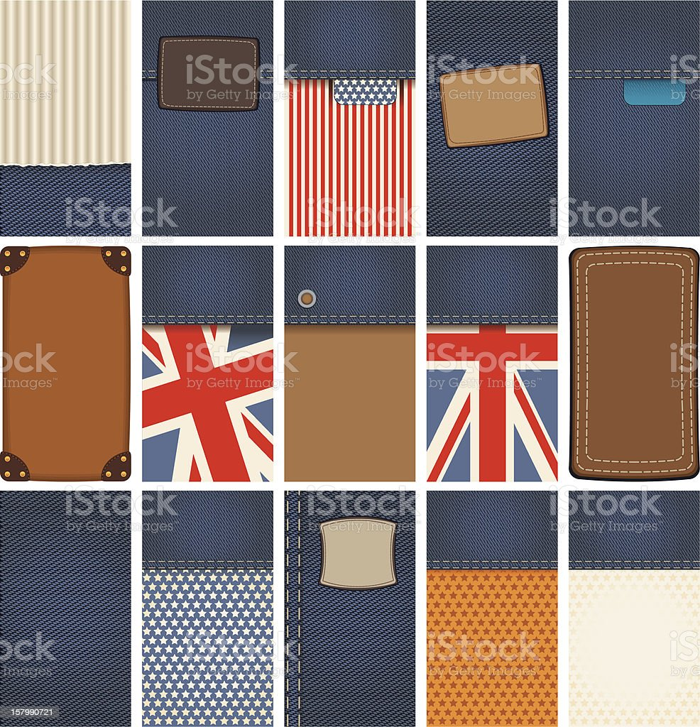 background of denim royalty-free stock vector art