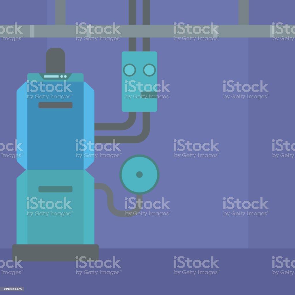 Background Of Domestic Household Boiler Room Stock Vector Art & More ...