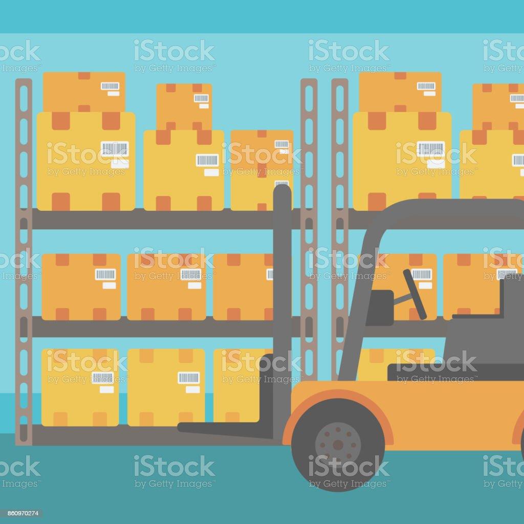 Arrire Plan Des Botes De Camion Et Le Carton Chariot Lvateur Dans L