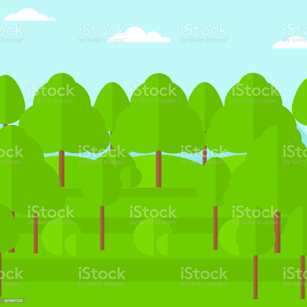 背景の緑の森 のイラスト素材 507907200 | istock